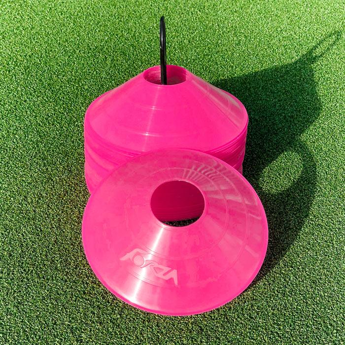 Pink Soccer Training Marker Cones